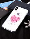 Custodia Per Apple iPhone X / iPhone 8 IMD / Transparente / Fantasia / disegno Per retro Fiore decorativo Morbido TPU per iPhone X / iPhone 8 Plus / iPhone 8