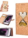 Case For Samsung Galaxy J7 (2017) / J5 (2017) Wallet / Card Holder / Flowing Liquid Full Body Cases Heart Hard PU Leather for J7 (2016) /