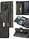 Etui Til Samsung Galaxy S9 Plus / S9 Lommebok / Kortholder / Flipp Heldekkende etui Ensfarget Hard PU Leather til S9 / S9 Plus / S8 Plus