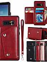 מגן עבור Samsung Galaxy Note 8 מחזיק כרטיסים כיסוי מלא אחיד קשיח עור PU ל Note 8