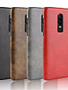 Case For OnePlus OnePlus 6 / OnePlus 5T Embossed Back Cover Solid Colored Hard PU Leather for OnePlus 6 / OnePlus 5T