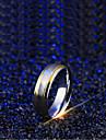 Per uomo Bicolore Double Twine Band Ring Acciaio al titanio Onda Semplice Anelli trendy Gioielli Argento Per Matrimonio Quotidiano Mascherata Festa per la promessa di matrimonio Graduazione Festival