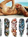 5 pcs dočasné tetování Totemová řada / Květinová řada Hladká nálepka / Jednorázová / Bezpečnost Tělesné Arts paže / Noha / Deskové dočasné tetování