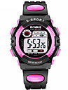 SYNOKE Women\'s Sport Watch Digital Watch Digital 30 m Water Resistant / Water Proof Calendar / date / day Chronograph PU Band Digital Fashion Black - Red Blue Pink / Dual Time Zones / Noctilucent