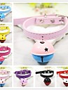 Rodents / Dogs / Cats Collar With Bell Punk / Rock PU Leather / Polyurethane Leather Red / Blue / Pink