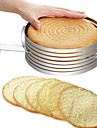 Bakeware tools Stainless Steel + A Grade ABS / Stainless steel Multifunction / DIY For Bread / For Cake / Cake Round Cake Molds / Cake Cutter 1pc
