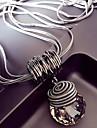 Dame Krystal Link / Chain Halskædevedhæng lang halskæde Damer Europæisk overdrivelse Sej Sølv 60 cm Halskæder Smykker 1pc Til Natklub Bar
