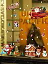 Window Film & Stickers Decoration Christmas Holiday PVC(PolyVinyl Chloride) Window Sticker / Shop / Cafe