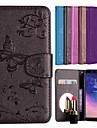 غطاء من أجل Samsung Galaxy A6 (2018) حامل البطاقات / مع حامل / نموذج غطاء كامل للجسم فراشة / زهور قاسي جلد PU إلى A6 (2018) / Huawei Y6 (2018)