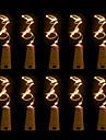 BRELONG® 10 stuks Wijnfles Stop LED Night Light Warm wit / Wit / Rood Knop Batterijvoeding Creatief / Bruiloft / Decoratie <5 V
