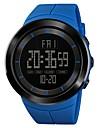 SKMEI Муж. Спортивные часы Армейские часы Японский Цифровой 50 m Будильник Секундомер С двумя часовыми поясами PU Группа Цифровой На каждый день Мода Черный / Синий / Красный - Зеленый Синий Хаки