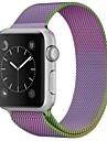 Rustfrit stål Urrem Strap for Apple Watch Series 3 / 2 / 1 Lilla 23cm / 9 tommer 2.1cm / 0.83 Tommer