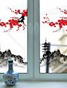 Window Film & Stickers Decoration Artistic / Retro / Classical Floral PVC(PolyVinyl Chloride) New Design / Cool
