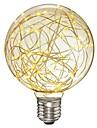 1pc 3 W 200-300 lm E26 / E27 Ampoules à Filament LED G95 33 Perles LED SMD Décorative / Étoilé Blanc Chaud 85-265 V