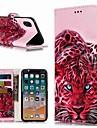Кейс для Назначение Apple iPhone XR / iPhone XS Max Кошелек / Бумажник для карт / со стендом Чехол Животное Твердый Кожа PU для iPhone XS / iPhone XR / iPhone XS Max