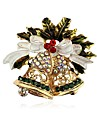 Women\'s Classic Brooches - Rhinestone Bell Ladies, Classic Brooch Jewelry Gold For Christmas