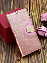 غطاء من أجل Samsung Galaxy S9 Plus / S9 حامل البطاقات / مع حامل / قلب غطاء كامل للجسم بريق لماع / حجر الراين قاسي جلد PU إلى S9 / S9 Plus / S8 Plus
