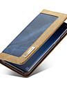 CaseMe מגן עבור Samsung Galaxy S9 Plus / S9 ארנק / מחזיק כרטיסים / נפתח-נסגר כיסוי מלא אחיד קשיח טֶקסטִיל ל S9 / S9 Plus / S8 Plus