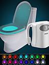 hkv® 16 색 무선 인간의 적외선 활성화 모션 센서 pir led 화장실 램프 배터리 구동 밤 빛 집 욕실