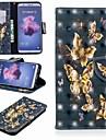 Etui Käyttötarkoitus Huawei P20 lite / Huawei P Smart Plus Lomapkko / Korttikotelo / Tuella Suojakuori Perhonen Kova PU-nahka varten Huawei P20 / Huawei P20 Pro / Huawei P20 lite