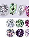 Akryl Glitter 3D Negle Stickers Pailletter Til Fingernegl Tånegl 3D-grænseflade / Farveskiftende Romantisk Serie Negle kunst Manicure Pedicure Stilfuld / Trendy Speciel Lejlighed / Daglig