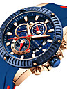 MINI FOCUS Ανδρικά Αθλητικό Ρολόι Παρακολουθήστε την αεροπορία Χαλαζίας σιλικόνη Μαύρο 30 m Χρονόμετρο Καθημερινό Ρολόι Απίθανο Αναλογικό Καθημερινό Μοντέρνα - Μπλε /  Μαύρο Κόκκινο Μπλε