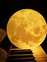 Luce di notte di 12cm 3d della lampada della camera da letto della lampada della luna di notte regalo creativo di natale di nuovo anno