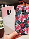 Etui Til Samsung Galaxy S9 Plus / S9 Matt / Moenster Bakdeksel Geometrisk moenster / Blomsternaal i krystall Hard PC til S9 / S9 Plus / S8 Plus