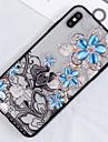 Capinha Para Apple iPhone XS / iPhone XS Max Translucido / Estampada Capa traseira Flor Rigida PC para iPhone XS / iPhone XR / iPhone XS Max