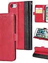 Carcasă Pro Apple iPhone 7 Peněženka / Pouzdro na karty / Flip Zadní kryt Jednobarevné Pevné PU kůže pro iPhone 7