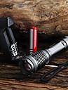 UltraFire Torce LED LED LED 1 emettitori 2000 lm 5 Modalita di illuminazione con batteria e caricabatterie Zoom disponibile, Impermeabile, Messa a fuoco regolabile Campeggio / Escursionismo