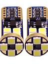 2pcs T10 Moottoripyörä / Auto Lamput 1 W SMD 3528 200 lm 12 LED Suuntavilkku / sisävalot / Sivumerkkivalot Käyttötarkoitus Universaali Kaikki vuodet