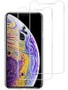 Protecteur d\'ecran pour Apple iPhone XS / iPhone X Verre Trempe 2 pieces Ecran de Protection Avant Haute Definition (HD) / Durete 9H / Coin Arrondi 2.5D
