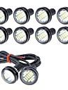 10pcs كيبل الأتصال دراجة نارية / سيارة لمبات الضوء 5 W مصلحة الارصاد الجوية 4014 250 lm 12 LED ضوء الضباب / ضوء النهار / ضوء نمرة السيارة من أجل عالمي