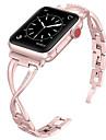 Urrem for Apple Watch Series 4/3/2/1 Apple Smykkedesign Metal / Rustfrit stål Håndledsrem