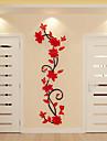 สติ๊กเกอร์ประดับผนัง - 3D สติ๊กเกอร์แปะกำแพง ลวดลายดอกไม้ / เกี่ยวกับพฤษศาสตร์ ในที่ร่ม